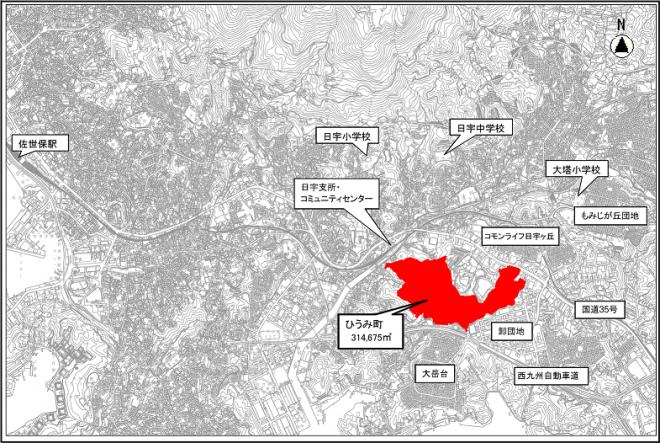 ひうみ町位置図